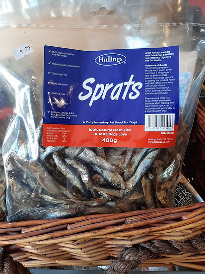 Hollings sprats 400g large bag