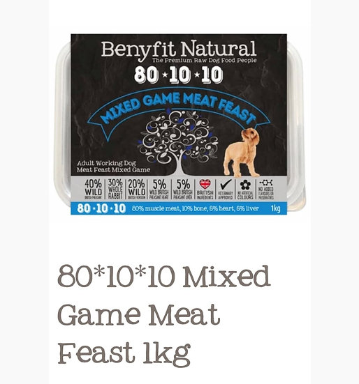 Benyfit mixed game meat feast