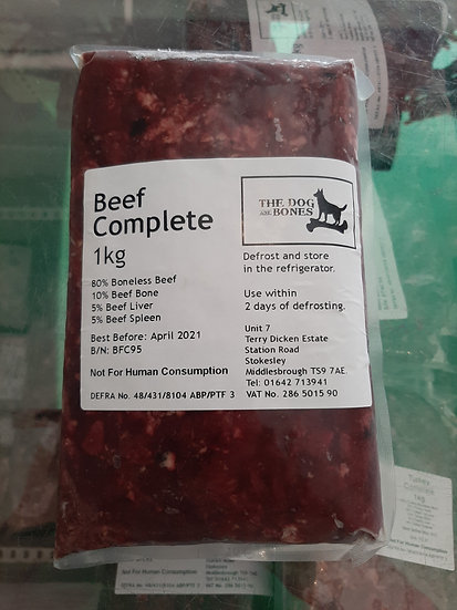 The dog and bones beef complete 1kg
