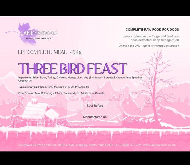 Three bird feast