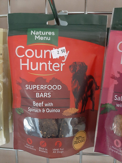 Country Hunter superfood bars (various flavours)