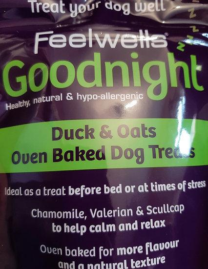 Feelwells Goodnight treats duck & oats 130g