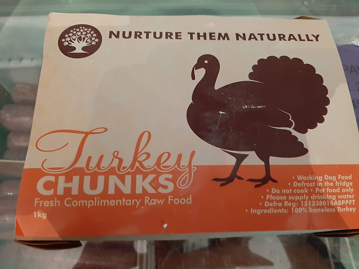 Boneless Turkey chunks 1kg