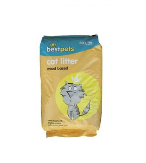 Wood based cat litter 30 litres