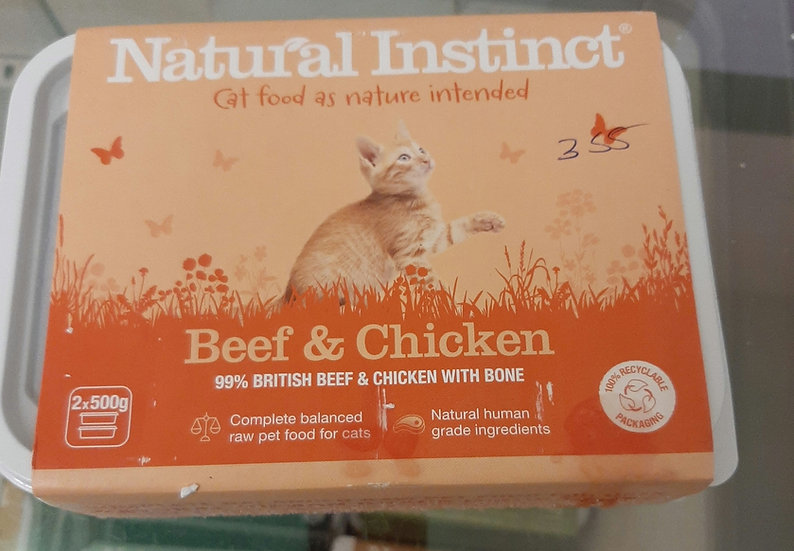 Natural Instinct  beef and chicken cat food