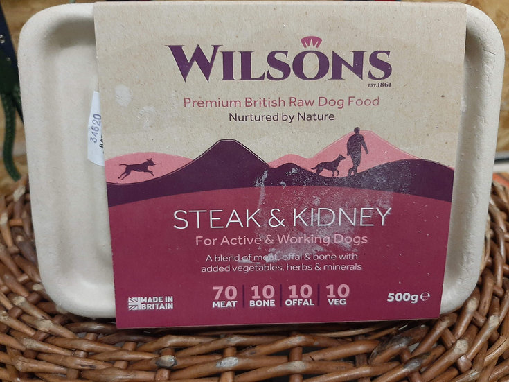 Wilson's Steak and kidney 500g