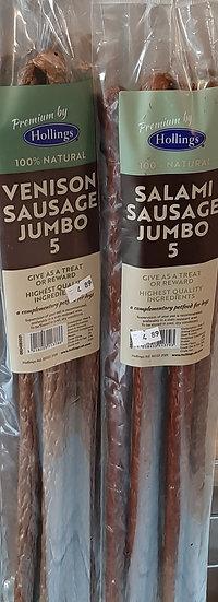 Hollings Venison sausages