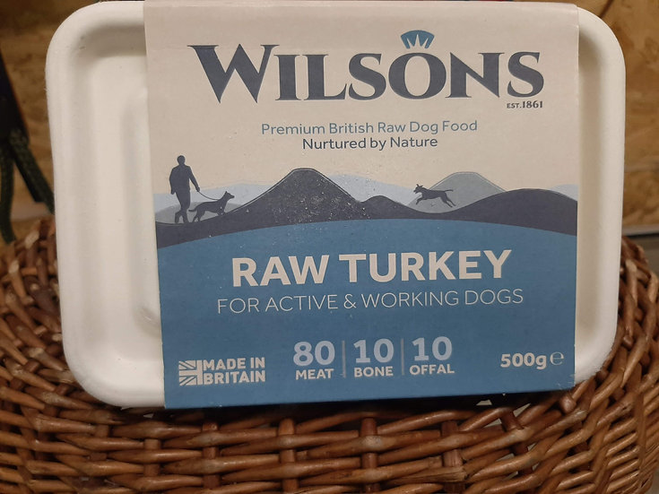 Wilson's Raw Turkey 500g