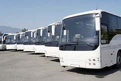 buses sanitized by UV lite and steam
