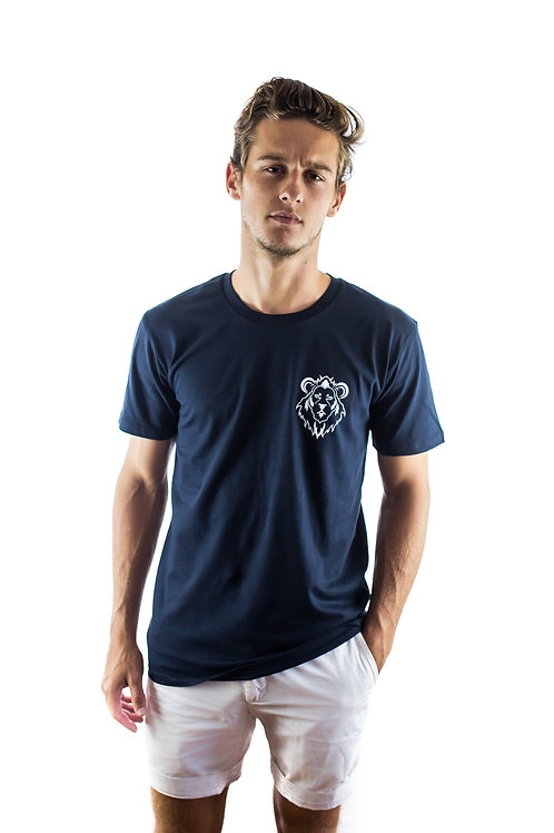 POCKET PRINT TEE - NAVY
