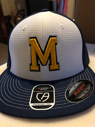 """MLL """"M"""" Hat with White Front/Navy Back"""