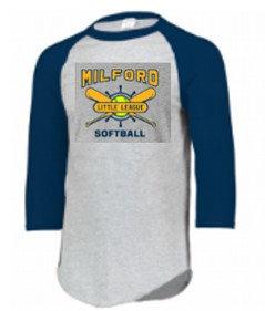 Milford Little League Raglan Sleeve WITH SOFTBALL