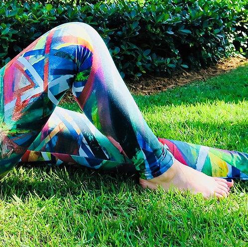 Kaleidoscopic Dance Leggings