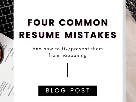 Four Common Resume Mistakes and How We Fix Them
