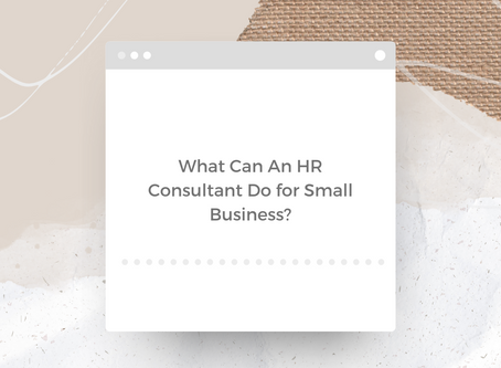 What Can An HR Consultant Do for Small Business?