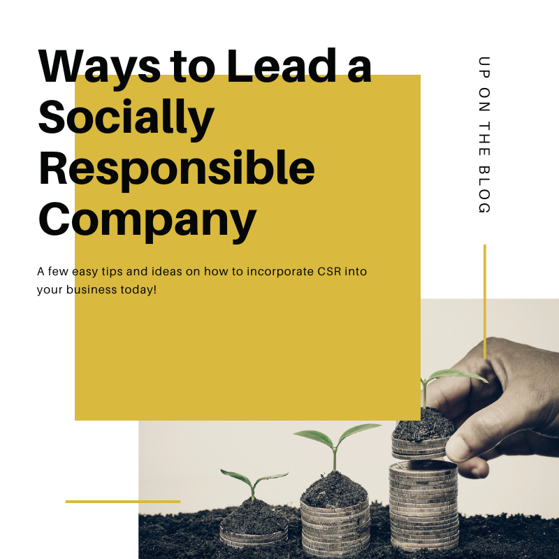 how to have a socially responsible company (CSR)