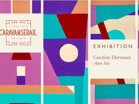Exhibition opening at the Caravansérail - Arco Iris by Caroline Derveaux .