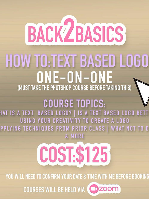 Text Based Logo Course