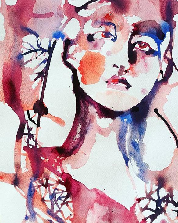 #akvarell#aquarelle #akvarellmålning#por