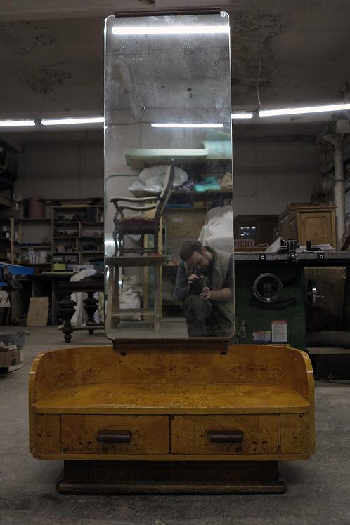 Напольное зеркало ,карельская береза