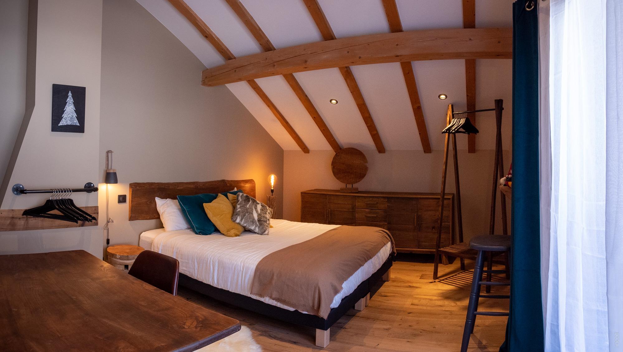 alpine chalet bedroom