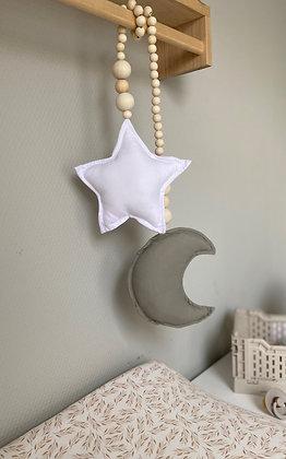 Decoratie | Maan en ster