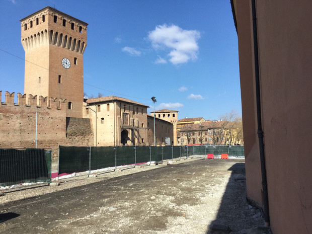 The construction works for the regeneration of Formigine's historic centre have begun