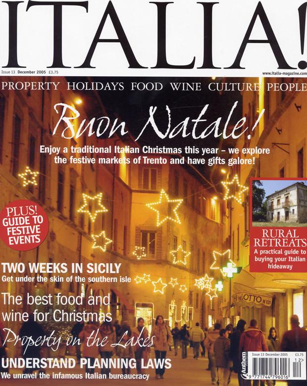 Building a Dream   ITALIA! Issue 13 December 2005