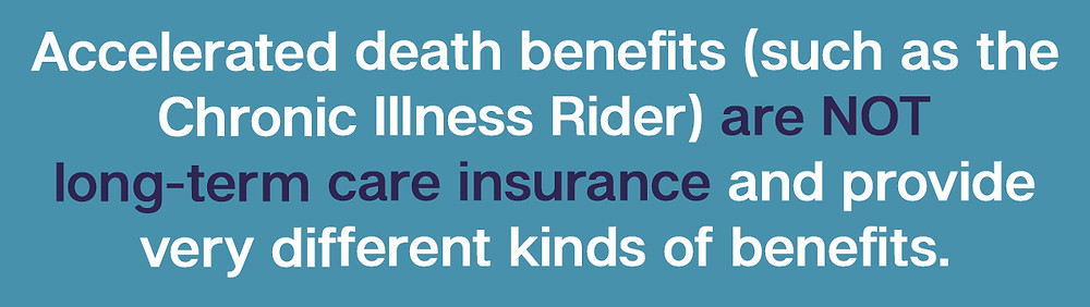 Accelerated death benefits living benefits life insurance riders