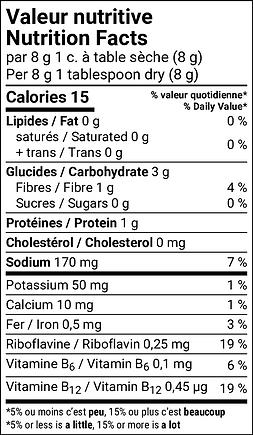 Bouillon déshydraté naturel saveur de poulet végétalien - Standard Bilingue - v1 - FR - N