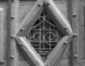 Closeup of French door