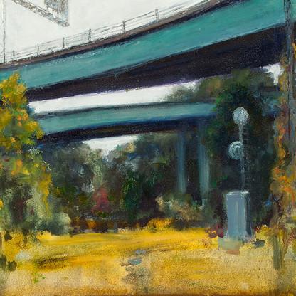 Amoskeag bridges - east bank