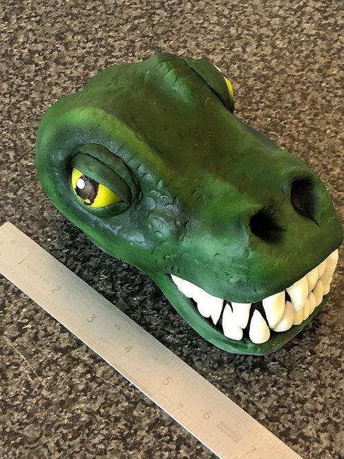 Trex dinosaur head cake topper