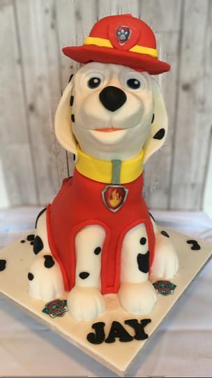 3D Marshal Paw patrol cake