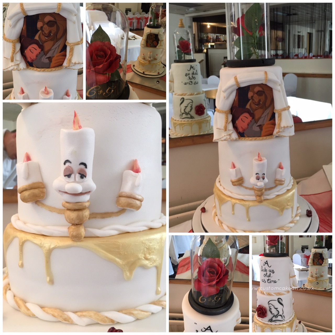 Beauty And The Beast Wedding Cake.Beauty And The Beast Wedding Cake