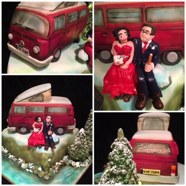 VW Camper wedding cake