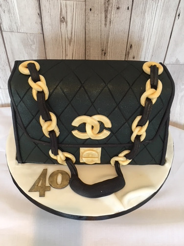 Chanel Designer Handbag cake