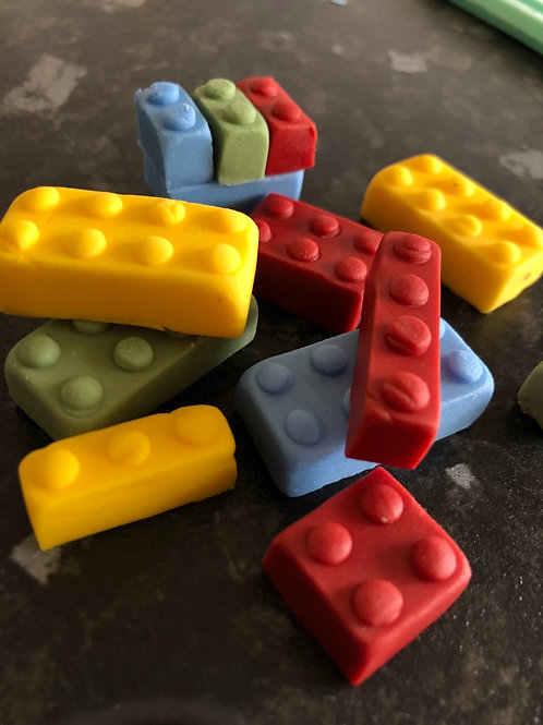 50 x edible lego style bricks for Birthday cakes and cupcakes