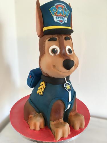 3D Chase Paw patrol cake