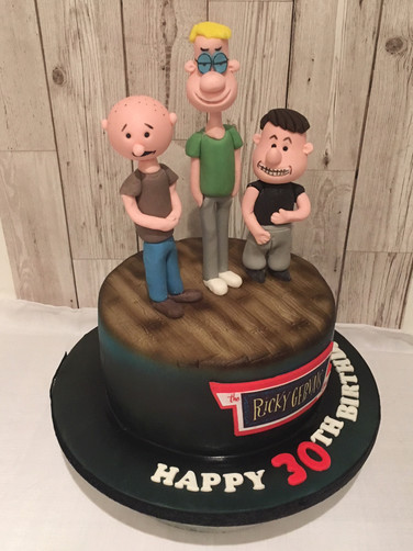 Ricky Gervaise show cake