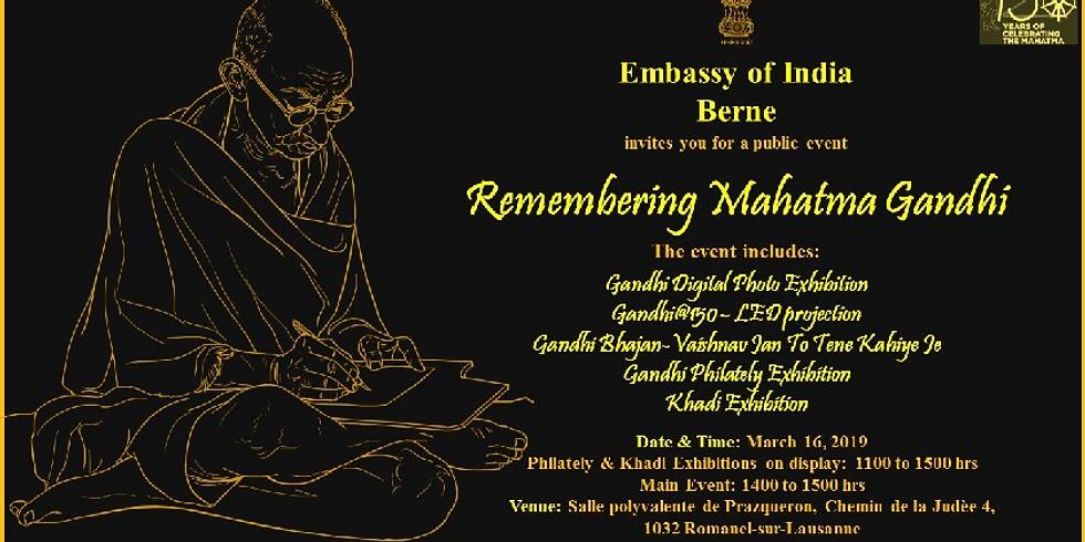 Remembering Mahatma Gandhi & Rumals of Chamba Exibition