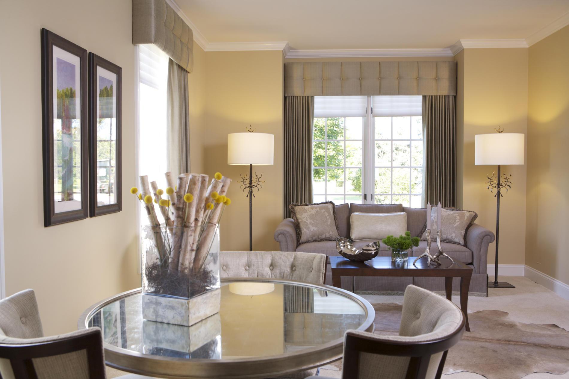 элегантный интерьер гостиной