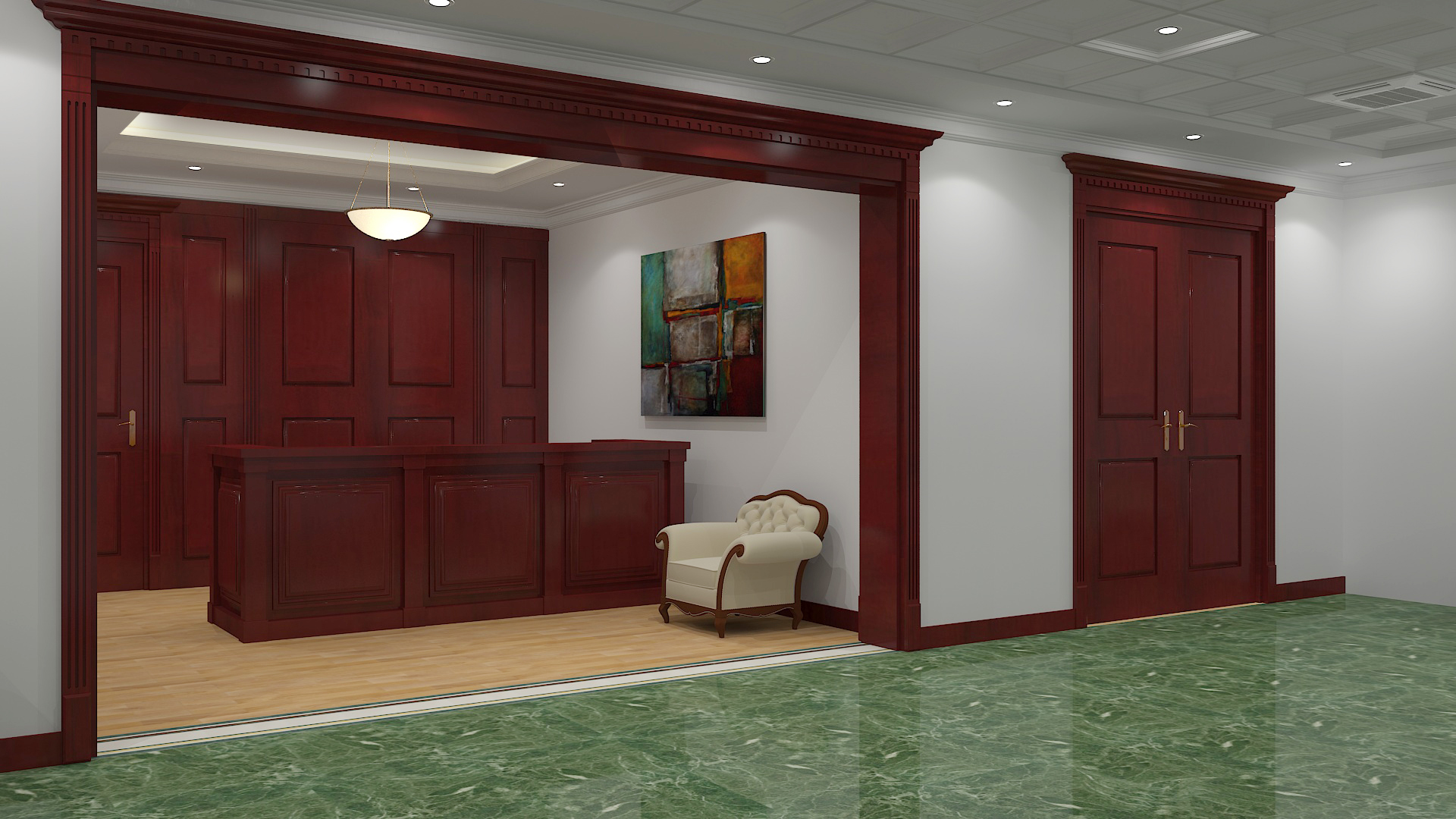 Дизайн интерьера приемной офиса
