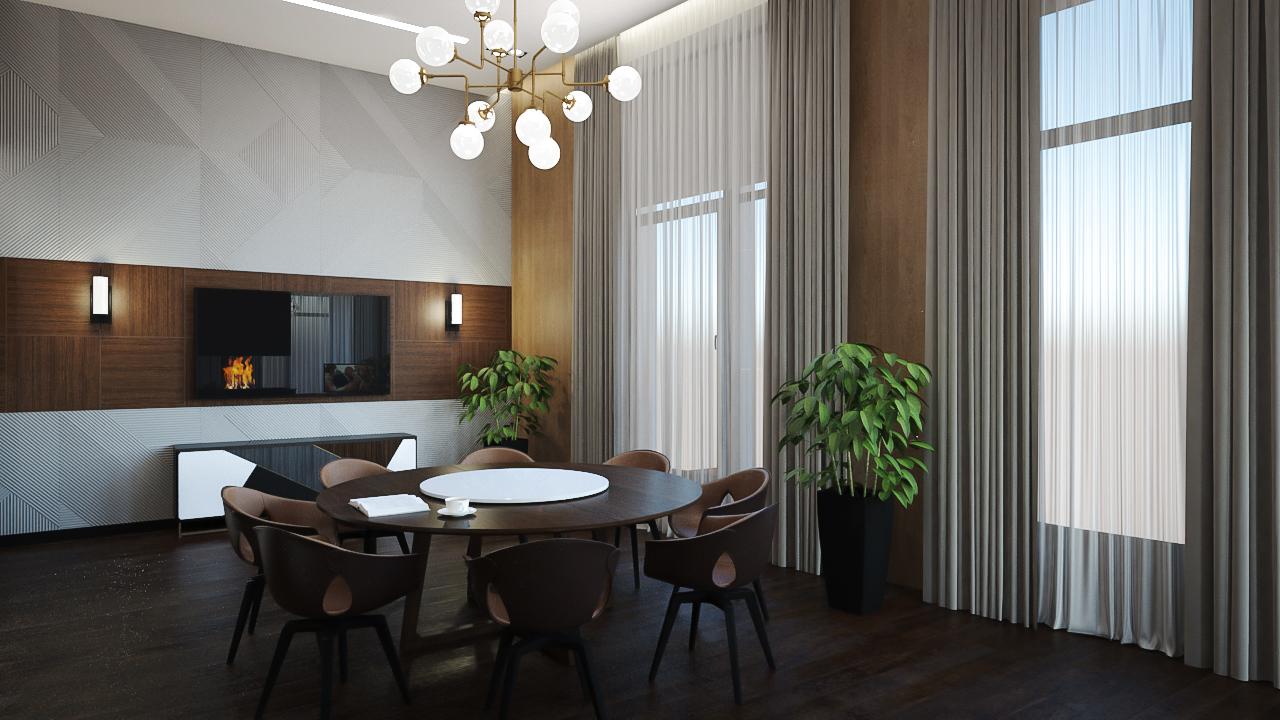 Интерьер гостиной в центре Москвы