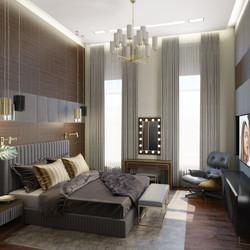 Интерьер спальни в центре Москвы