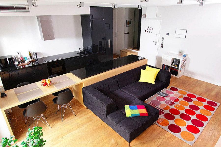 Дизайн интерьера квартиры студии Москва