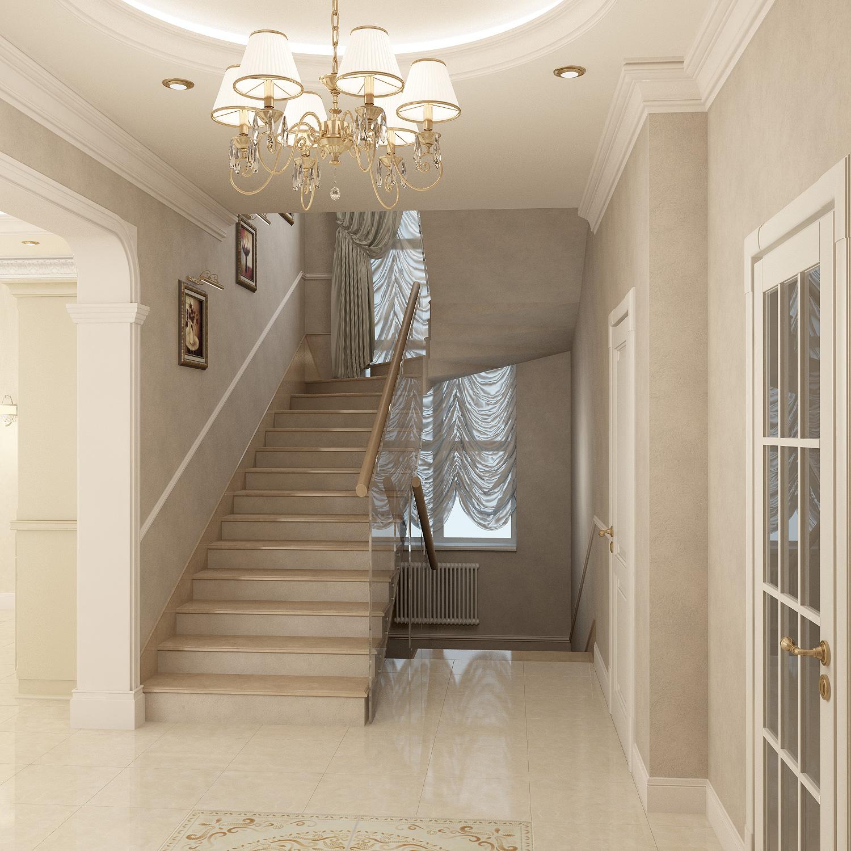 Классический интерьер лестницы