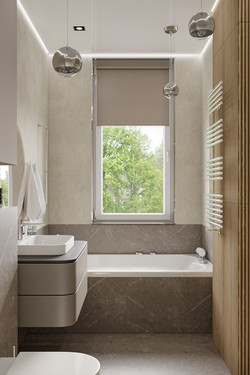 Ванна с окном дизайн