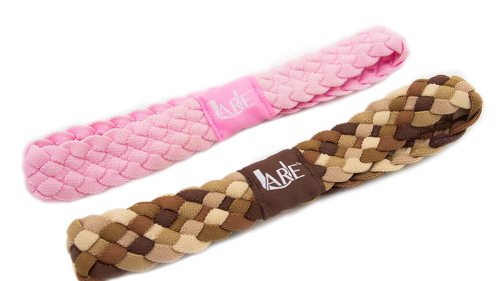 2  Pack of Active Headbands  (Pink & Brown)