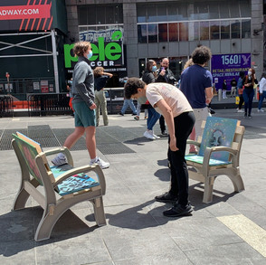 Public art chair in Times Square 1